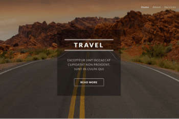 Typically – Travel Themed Website HTML Template for Free