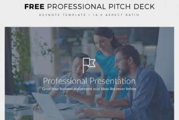 Professional Pitch Deck Keynote Template for Free