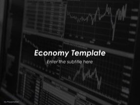 Economy Keynote Template for Free