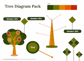 Download Tree Diagram Set – Keynote Template for Free