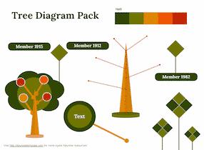 Tree Diagram Set - Keynote template