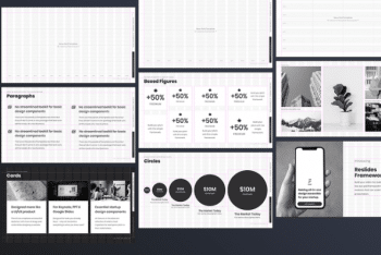 Slide Grid Presentation Template for Free