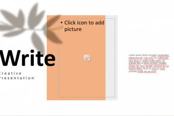 Write – Creative Presentation Template for Free
