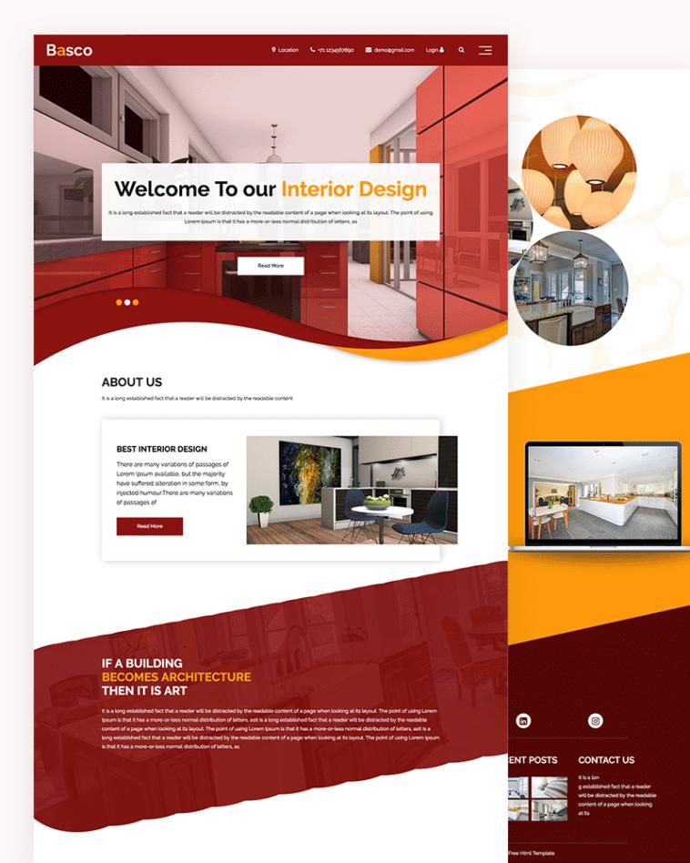 Basco – interior design HTML template