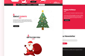Crism – Christmas HTML Template Download