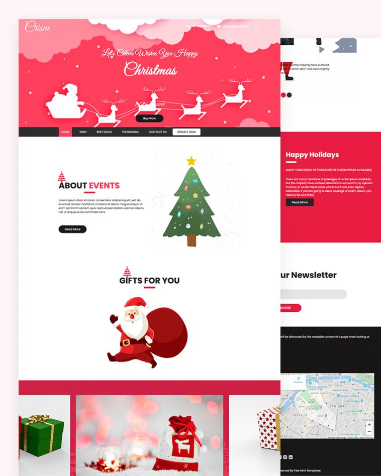 Crism – Christmas HTML Template