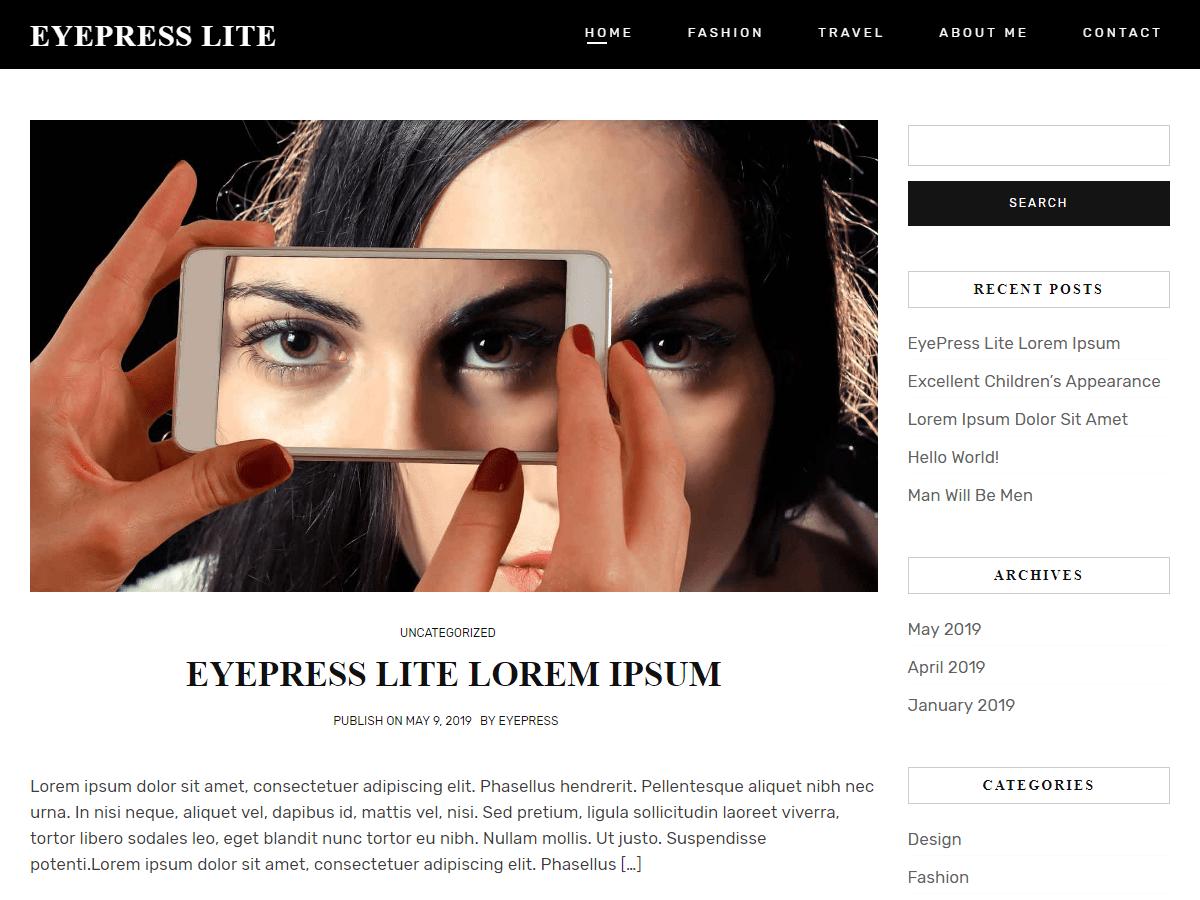 Eyepress Lite - personal blog theme