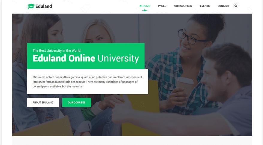 Eduland – free education & courses HTML5 template