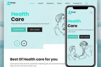 Nurgo – HealthCare HTML Template Download