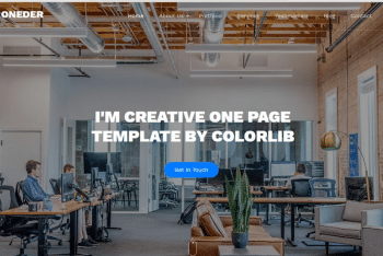 Download Oneder – Free Agency Website HTML Template