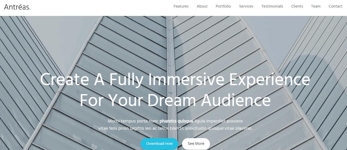 Antreas - Business WordPress Theme