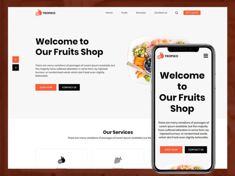Tropiko – Fruit Store Html Template