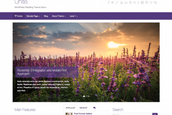Download Unite – Free WordPress Wedding Theme