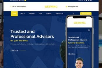 Webwing – Business Adviser HTML Template Download