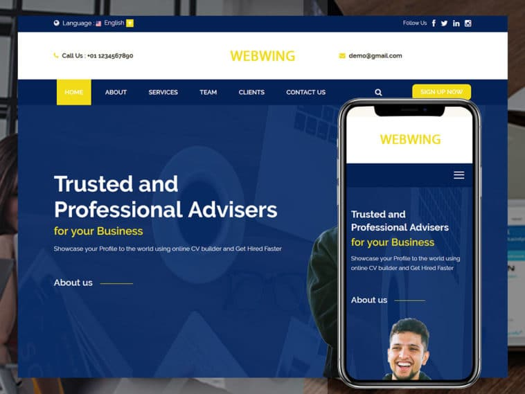 Webwing – business adviser HTML template