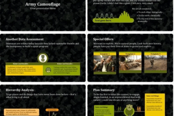 Army Keynote Template for Free