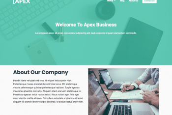 Apex Business – A Free Multipurpose Business & Blog WordPress Theme