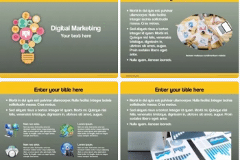 Digital Marketing Presentation Keynote Template for Free