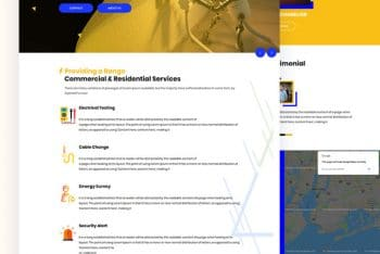 EOC – Electrical Service HTML Template Download
