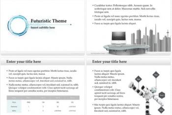 Futuristic Keynote Template for Free