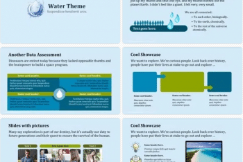 Water Keynote Template for Free