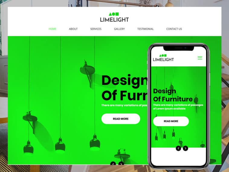 Limelight – Furniture HTML Template