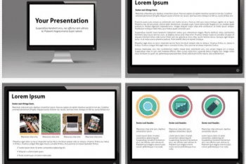 Monitor Keynote Template for Free