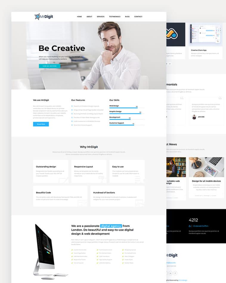 MrDigit – Free Digital Agency HTML Template