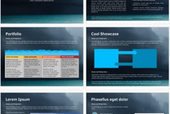 Ocean Keynote Template for Free