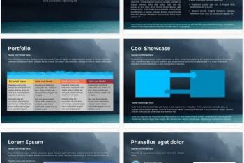 Ocean Keynote Template for Free
