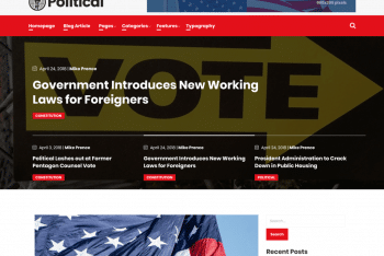 Political – A WordPress Theme for Free