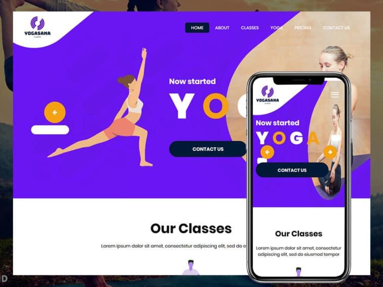Yogasana – yoga & fitness HTML template