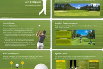 Golf Keynote Template for Free