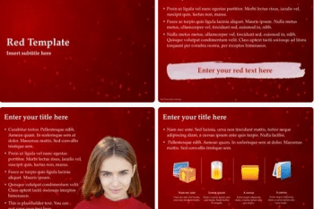 Red Keynote Template – A Free Theme for Attractive Presentations