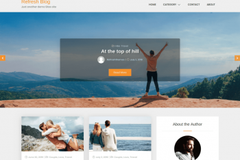 Refresh Blog – A free WordPress Theme