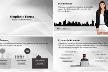 Simplistic Theme Keynote Template for Free