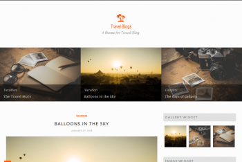 Travel Blogs – A Free WordPress Theme for Blogs