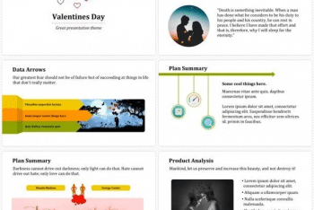 Valentine Keynote Template for Free