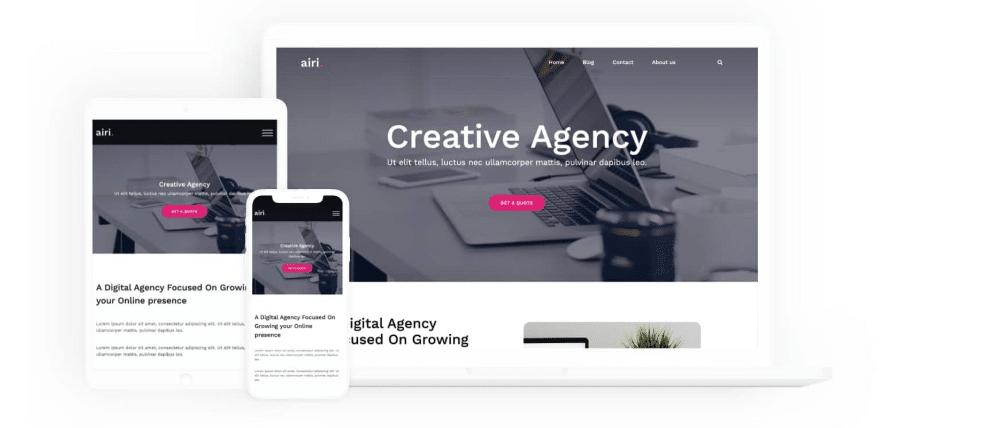 Airi - business/agency WordPress theme
