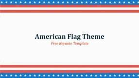 American Flag Keynote Template for Free