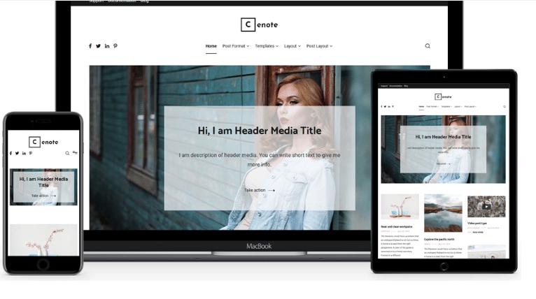Cenote - blogging/news/magazine WordPress theme
