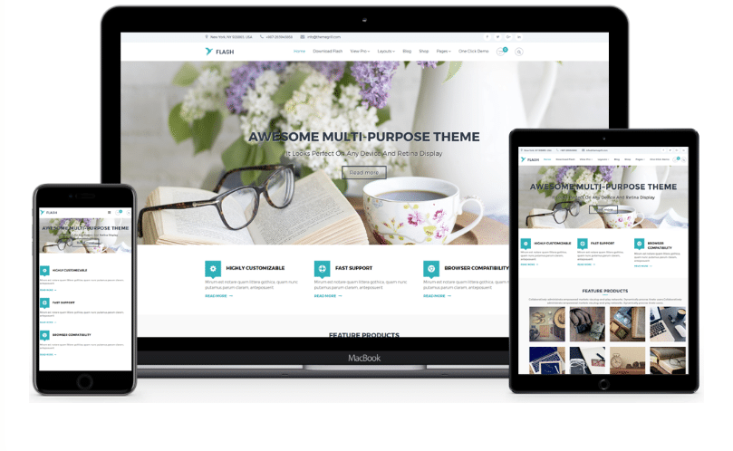 Flash - free multipurpose WordPress theme