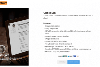 Download Ghostium – Medium Like Ghost Theme For Your Next Project