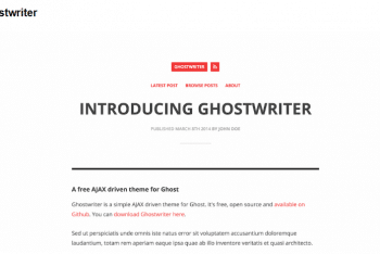 Download Ghostwriter – Responsive Ghost Theme for Free