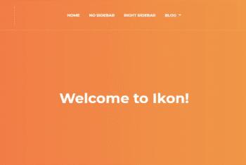 Ikonwp – A free WordPress Theme