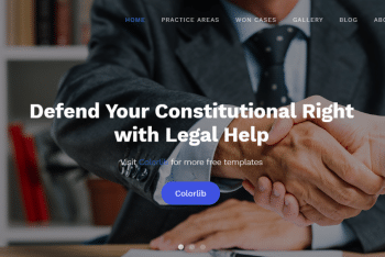 Download Lawmaker – Law agency Website HTML Template
