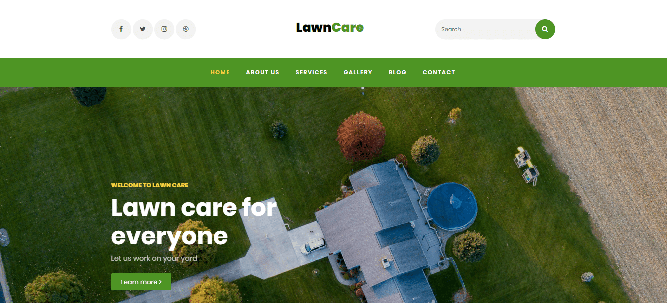 Lawncare - simple lawncare website HTML template