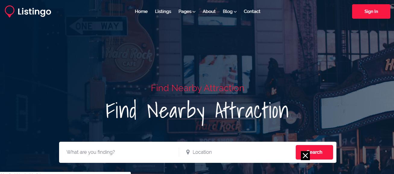 Listingo - listing website HTML template