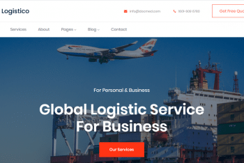 Download Logistico –  Logistics Website HTML Template