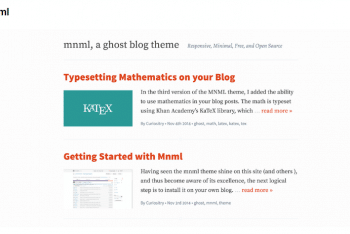 Download  Mnml- Content-Oriented Ghost Theme For Free